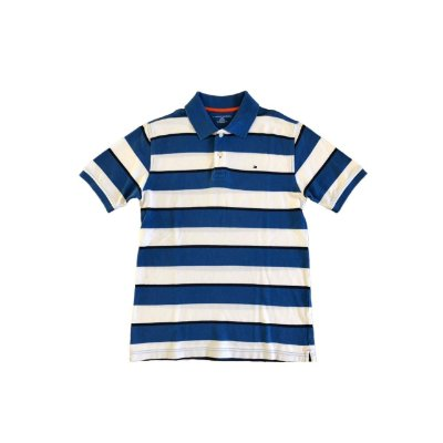 Camiseta Polo TOMMY HILFINGER Infantil Marinho e Branco