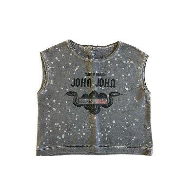 Camiseta JOHN JOHN Infantil Cinza Escuro