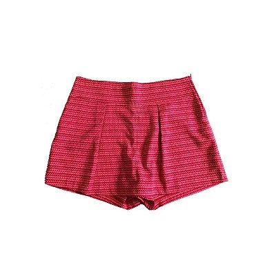 Shorts Saia VERTT COLLECTION Feminino Vermelho e Rosa