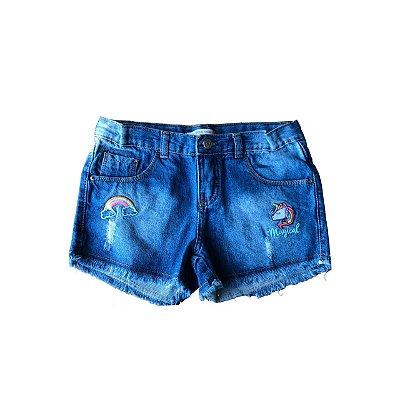 Shorts Jeans Palomino Bordado Arco-Iris