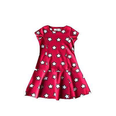 Vestido Anime Vermelho Estrelas
