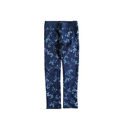 Calça Legging H&M Azul Borboletas