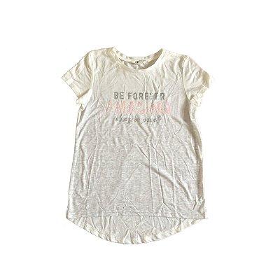 Camiseta H&M Infantil Branca BE FOREVER