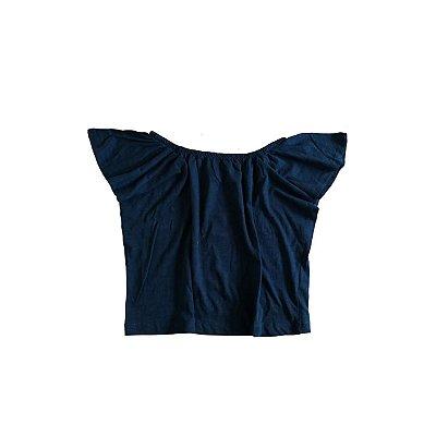 Camiseta ZARA KIDS Infantil Preta com Elastico