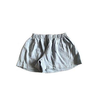 Shorts QTE Infantil Azul Elastico