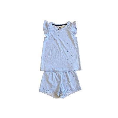 Pijama H&M Duas Peças Listrado Azul e Branco Nunca Usado