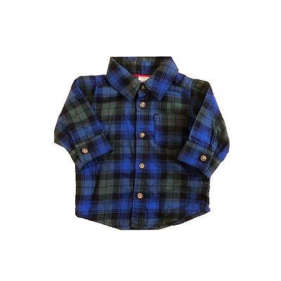 Camisa Manga Longa CARTER`S Infantil Xadrez