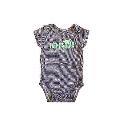 Body CARTER`S Infantil Listras Marinho e Branco HANDSOME