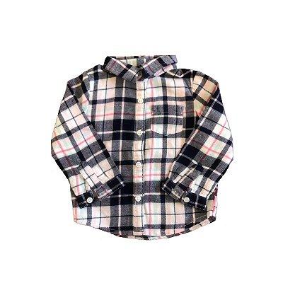 Camisa CARTER`S Infantil Xadrez Marinho, Rosa e Branca