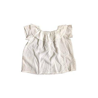 Blusa Ombro a Ombro QTE! Infantil Off White