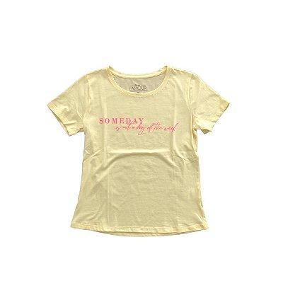 Camiseta Rosa L´Amour Amarela (Nunca Usada)