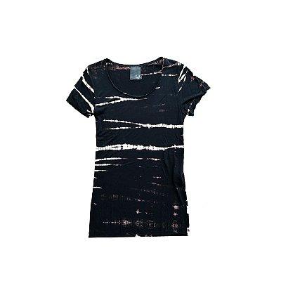 Camiseta FYI Preta Tie Dye