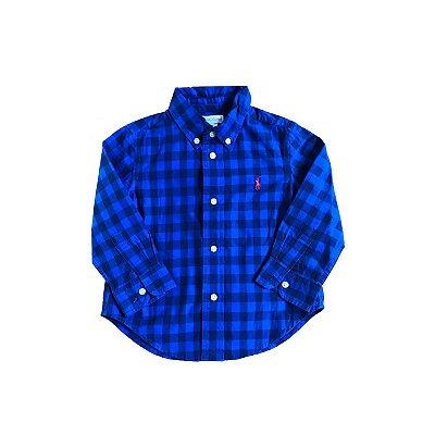 Camisa RALPH LAUREN Infantil Azul Xadrez