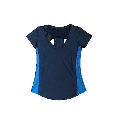 Camiseta Track&Field Azul Marinho e Azul Royal