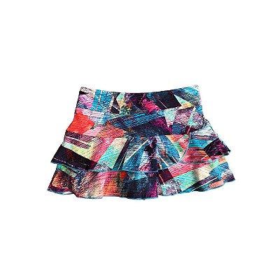 Shorts Saia Mania D'menina Colorido