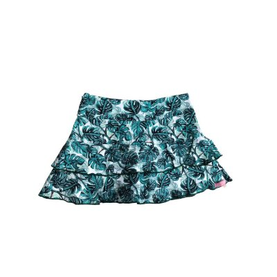 Shorts Saia Mania D'menina Folhas Verdes