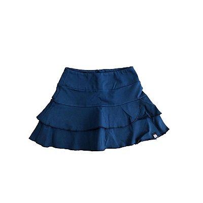 Shorts Saia Mania D'menina Azul Marinho