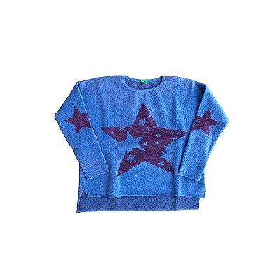 Tricot Benetton Estrelas Azul