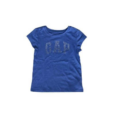 Blusa Azul Gap Kids Logo Bordado