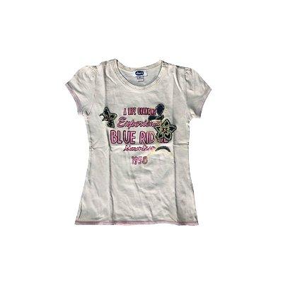 Camiseta Chicco Bege com Aplique