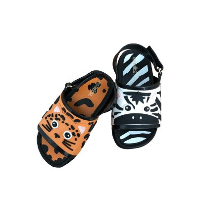 Sandália Mini Melissa Onça e Zebra (nunca usada)