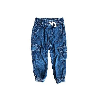 Calça Jeans GAP Infantil Azul Molinha