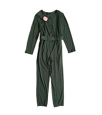 Macacão Longo Blessed Feminino Verde Militar