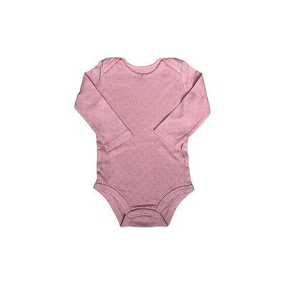 Body Manga Longa CARTER´S Infantil Rosa