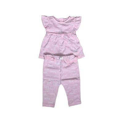 Conjunto CARTER´S Infantil Rosa - Calça e Blusa
