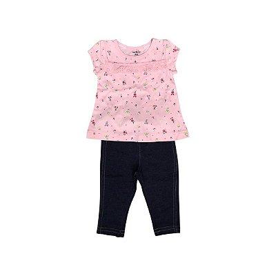 Conjunto CARTER´S Infantil Rosa  - Legging e Camiseta