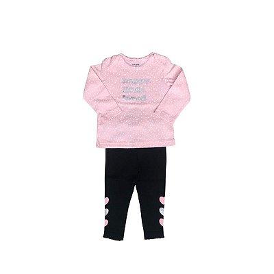 Conjunto CARTER´S Infantil Rosa  - Legging e Camiseta Manga Longa