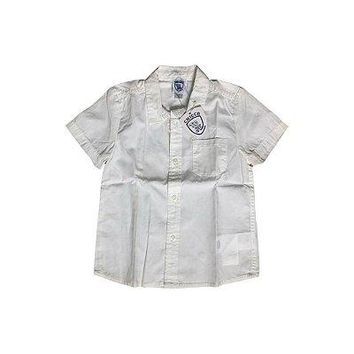 Camisa Manga Curta CHICCO Infantil Branca (com Etiqueta)