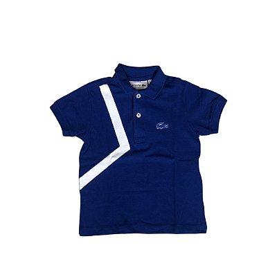 Camiseta Polo LACOSTE Infantil Azul Bic