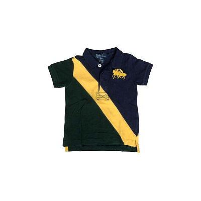 Camiseta Polo RALPH LAUREN Infantil Marinho ( mais desbotada)