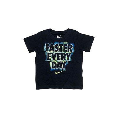 Camiseta NIKE Infantil Azul Marinho FASTER