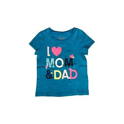 Camiseta OSHKOSH  Infantil Azul MOM & DAD