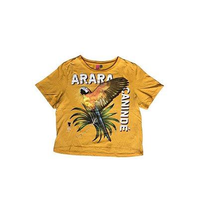 Camiseta Cropped FARM Feminina Amarela ARARA