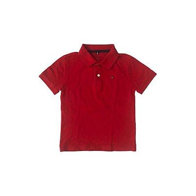 Camiseta Polo TOMMY HILFINGER Infantil Vermelha