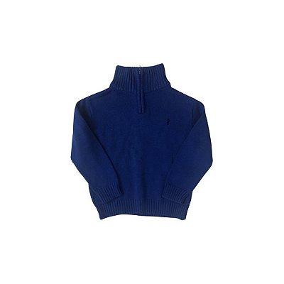Tricô IZOD Infantil Azul Bic