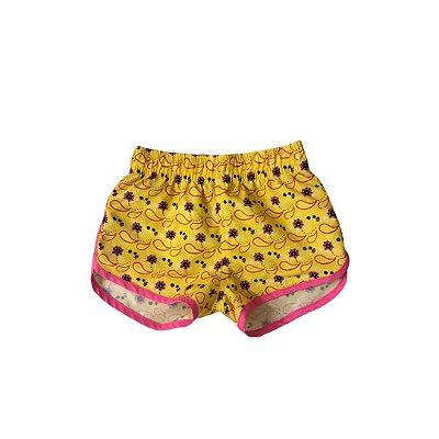 Shorts POOL KIDS Amarelo e Rosa