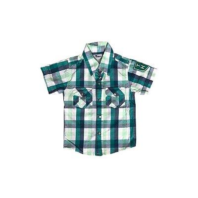 Camisa Xadrez TRICK Infantil Verde