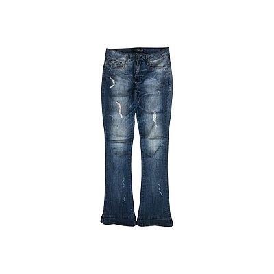 Calça Jeans COSTUME Feminina Azul Aberta Barra