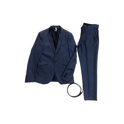 Terno ZARA MAN Masculino Azul com Cinto Preto