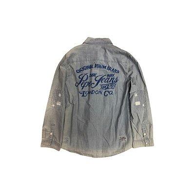 Camisa Jeans PEPE JEANS Infantil Azul (com Etiqueta)