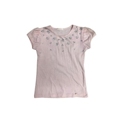 Camiseta PAMPILI Rosa Aplique Flor