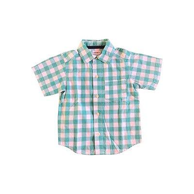 Camisa Carter's Xadrez Verde e Branca