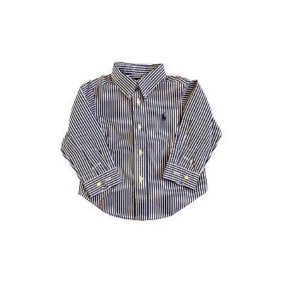 Camisa Ralph Lauren Listrada Azul e Branca