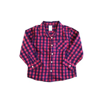 Camisa Zara Baby Xadrez Vermelha e Azul