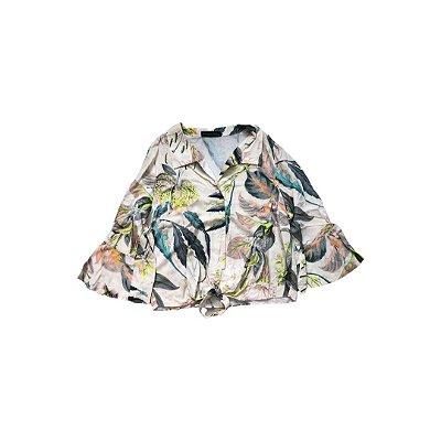 Camisa Cropped MARCIA MELLO Feminina Estampada