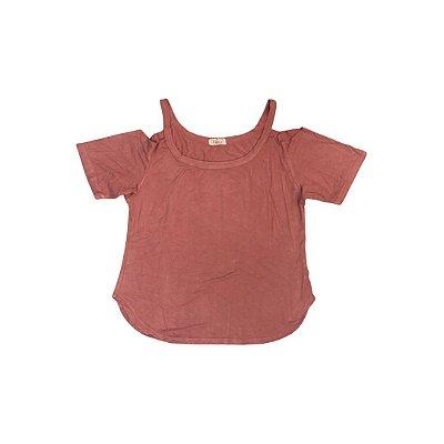 Camiseta A!BÁSICA Feminina Rose